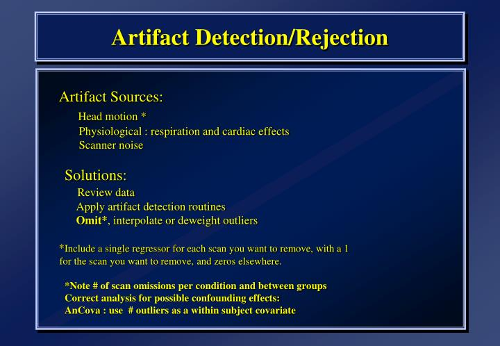 Artifact Detection/Rejection