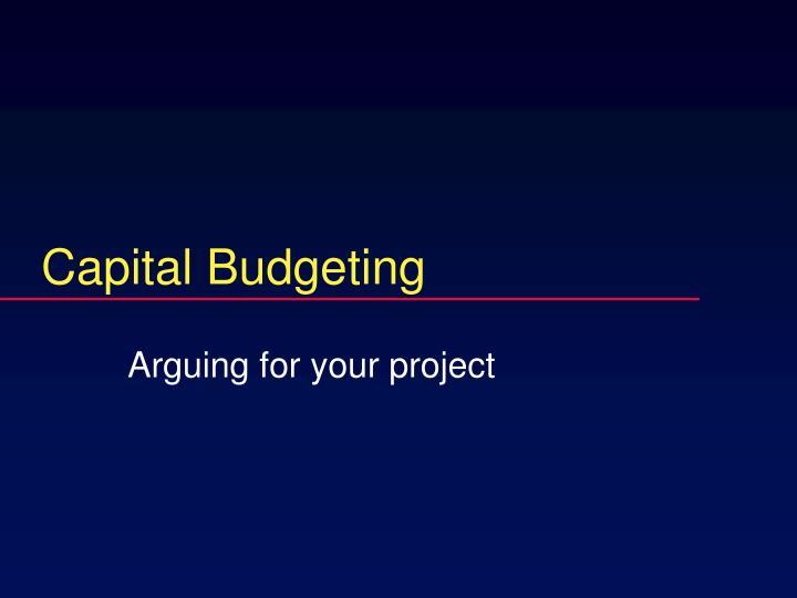 capital budgeting n.