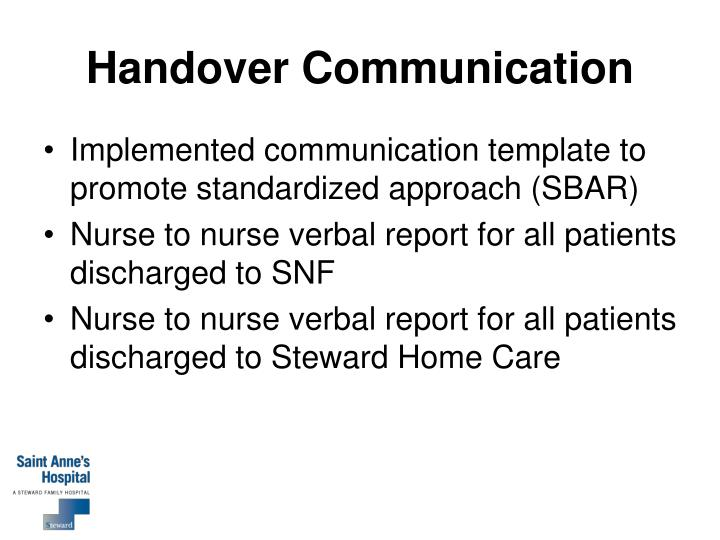 Handover Communication