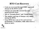 rto cost recovery