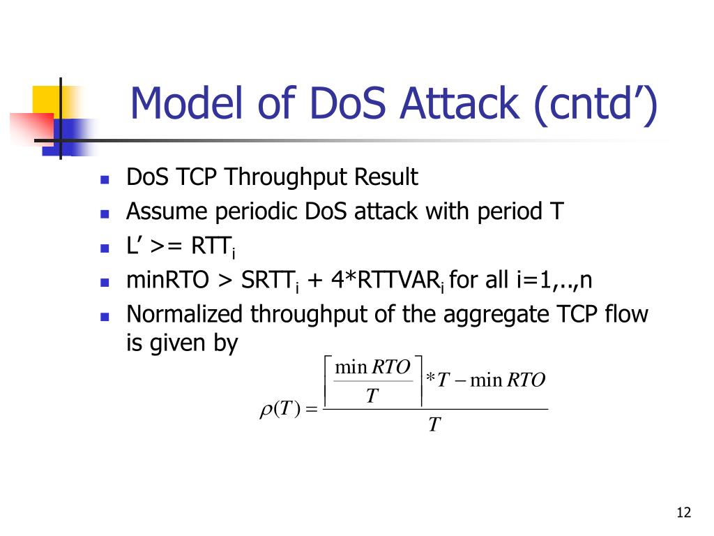 PPT - Low-rate TCP-Targeted Denial of Service Attacks