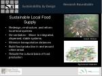sustainable local food supply