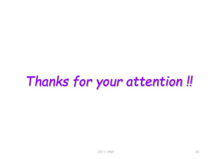 Thanks for your attention !!