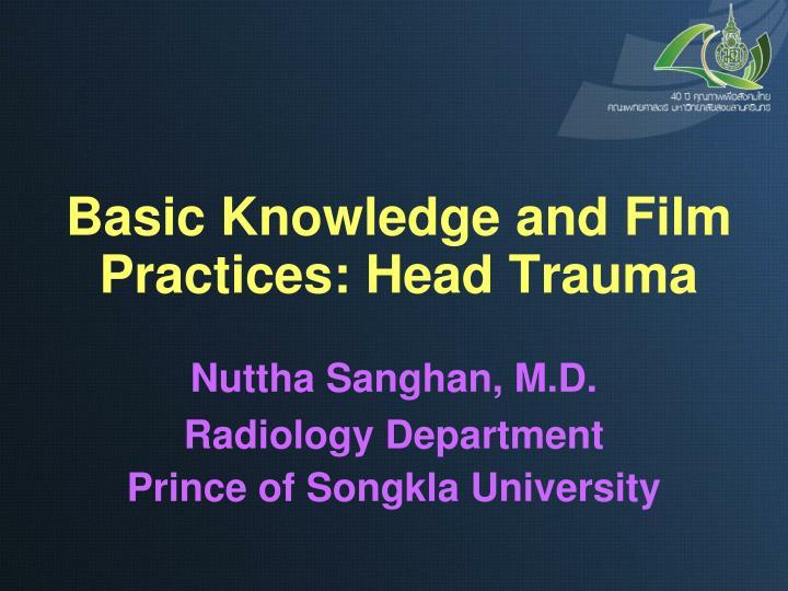 basic knowledge and film practices head trauma n.