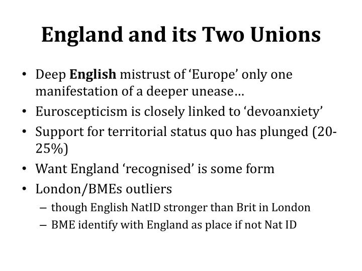 England and its Two Unions