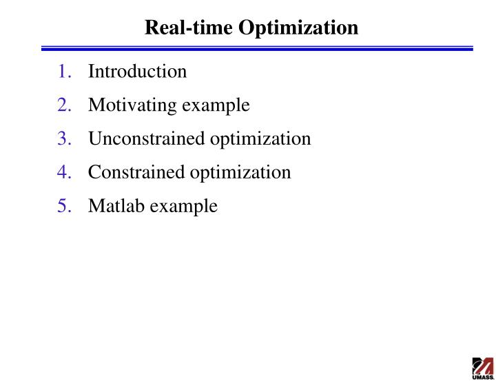 PPT - Real-time Optimization PowerPoint Presentation - ID
