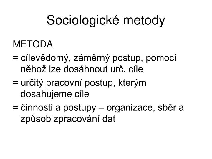 Sociologické metody