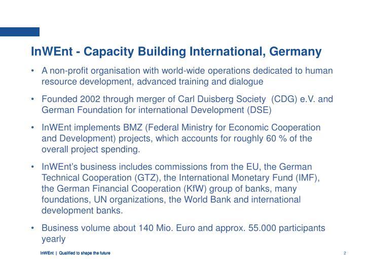InWEnt - Capacity Building International, Germany