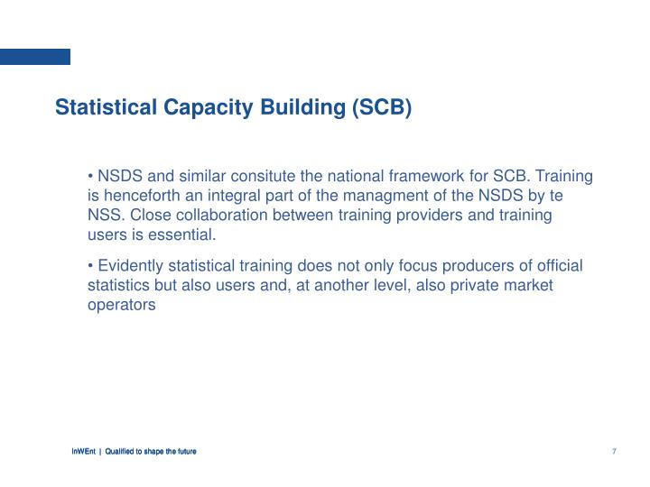 Statistical Capacity Building (SCB)