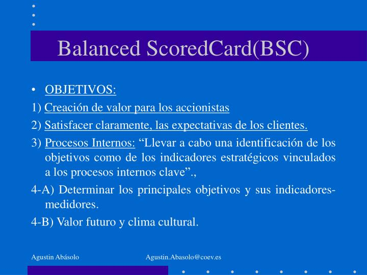 Balanced scoredcard bsc2