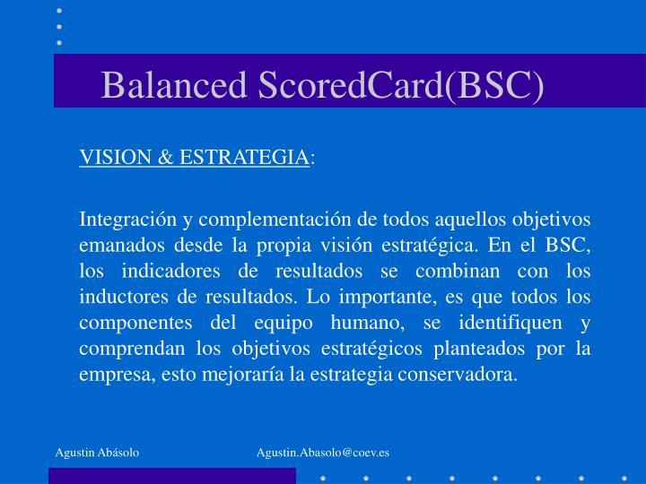 Balanced ScoredCard(BSC)