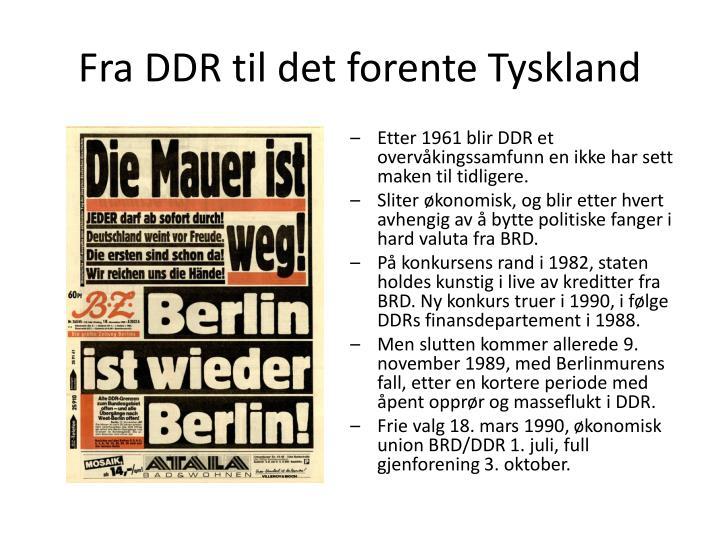 Fra DDR til det forente Tyskland
