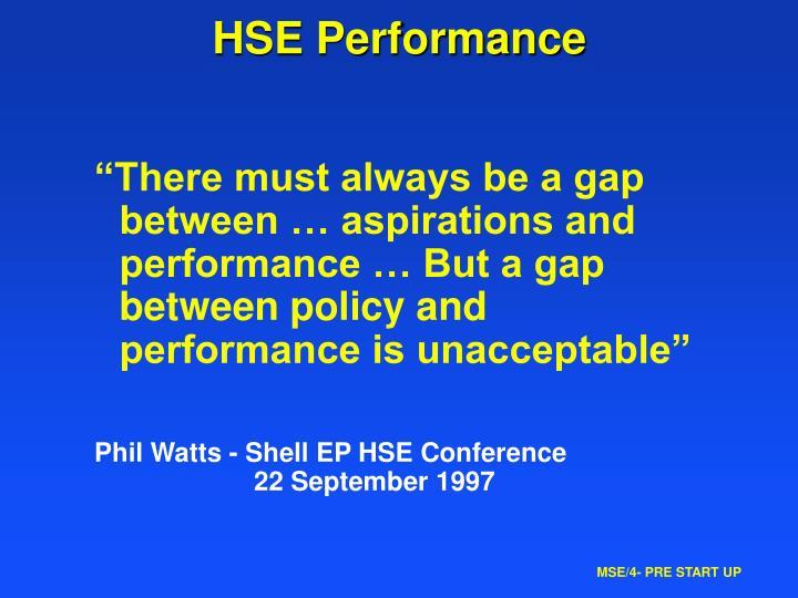 HSE Performance