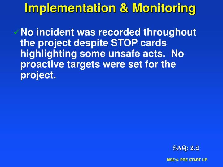 Implementation & Monitoring