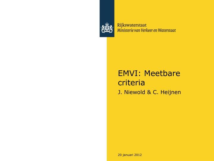 EMVI: Meetbare criteria