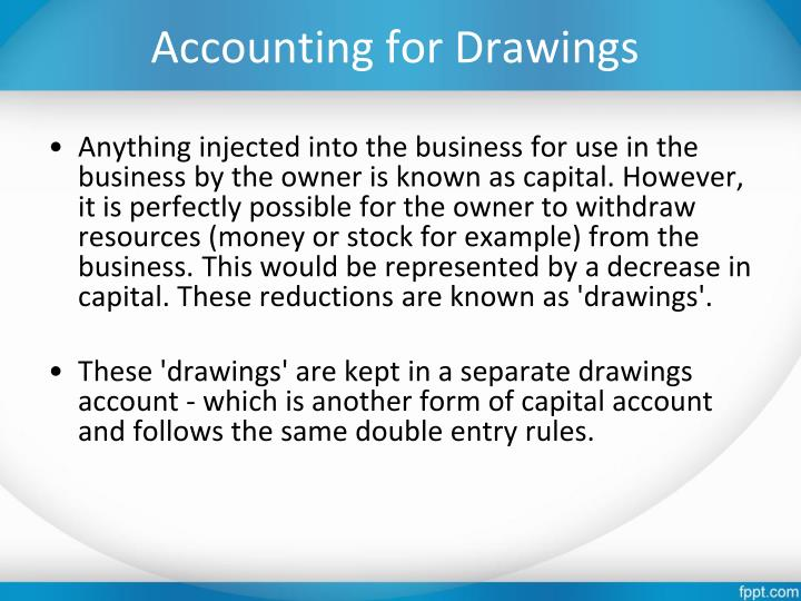 Accounting for Drawings