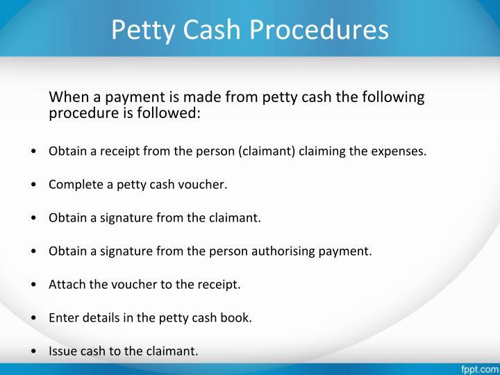 Petty Cash Procedures