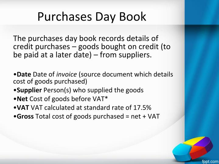 Purchases Day Book