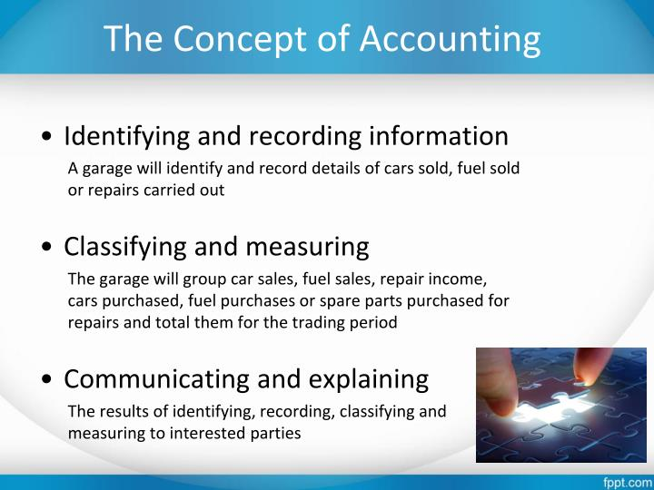 The concept of accounting