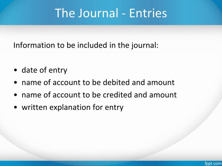 The Journal - Entries