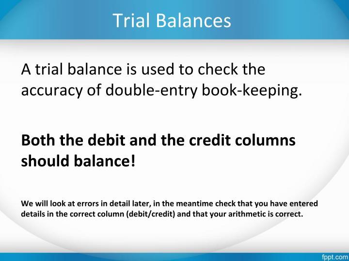 Trial Balances