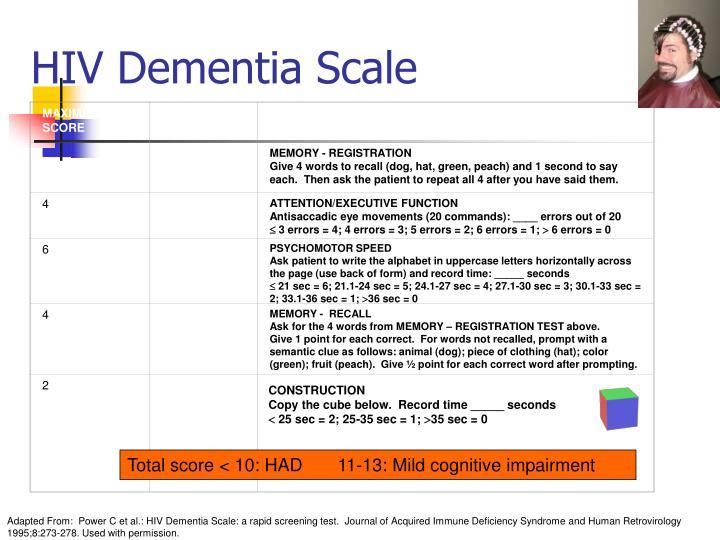 HIV Dementia Scale