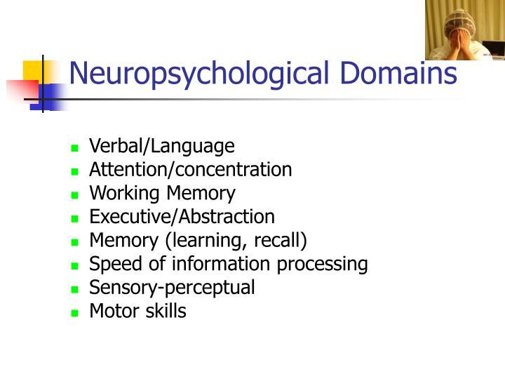 Neuropsychological Domains