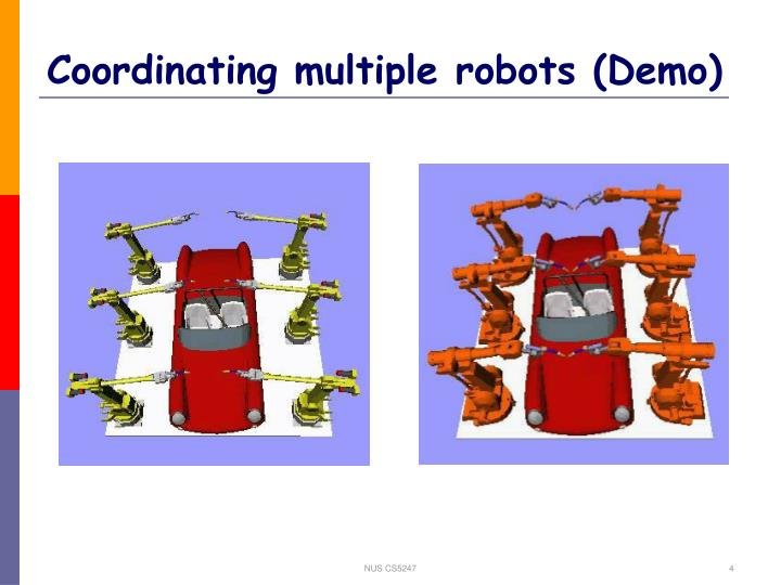 Coordinating multiple robots (Demo)