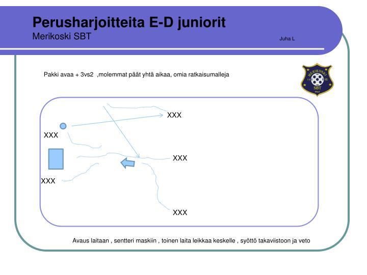 Perusharjoitteita E-D juniorit