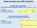stable boundary layer sbl similarity