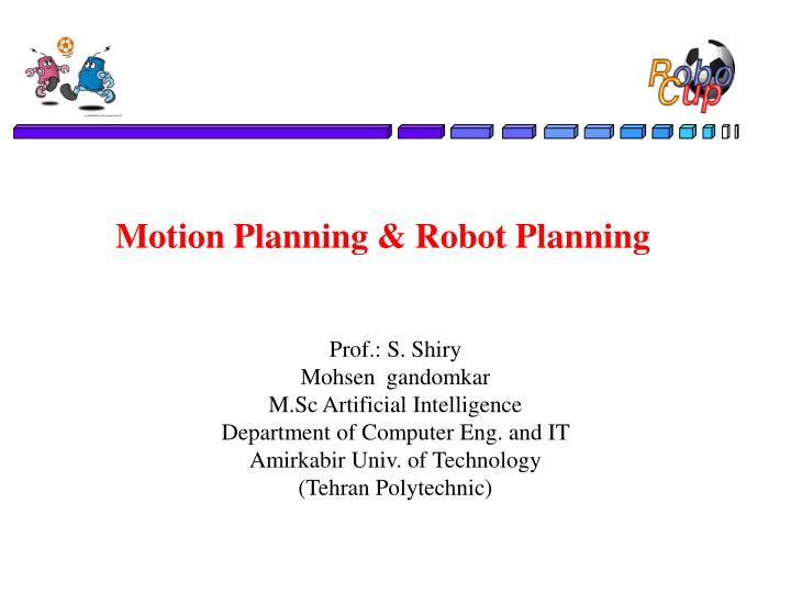 motion planning robot planning n.