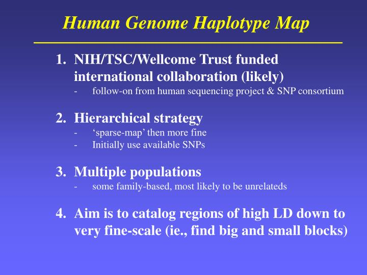 Human Genome Haplotype Map