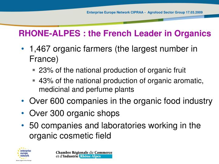 RHONE-ALPES : the French Leader in Organics