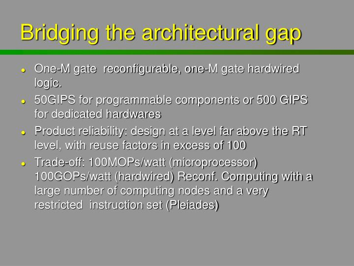 Bridging the architectural gap