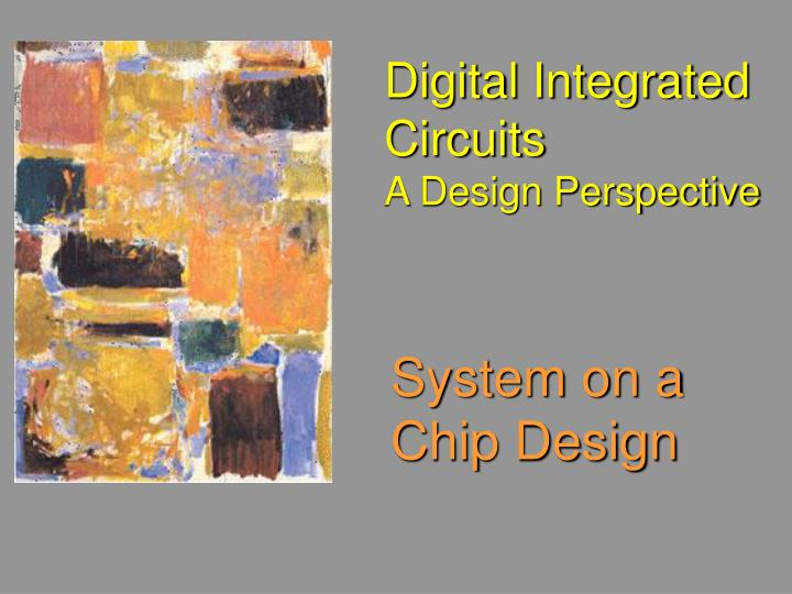 digital integrated circuits a design perspective n.