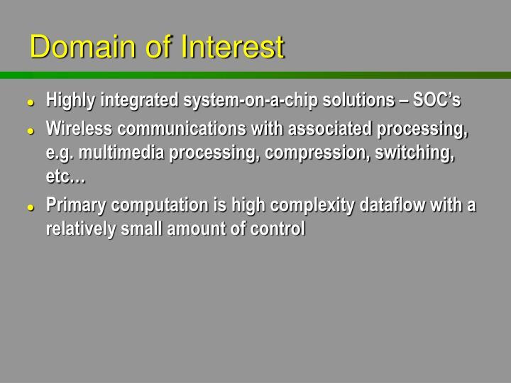 Domain of Interest