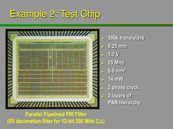 Example 2: Test Chip