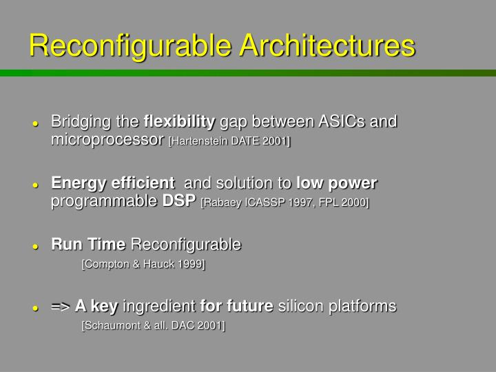 Reconfigurable Architectures