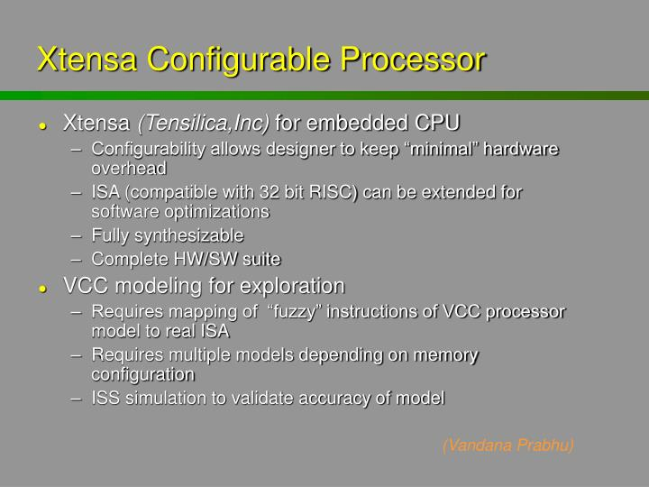 Xtensa Configurable Processor