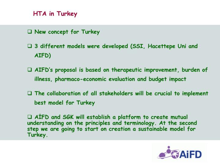 HTA in Turkey