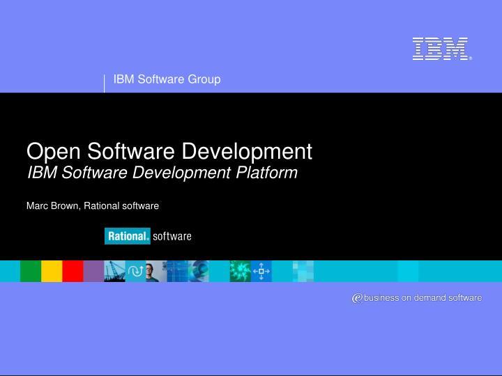 open software development ibm software development platform marc brown rational software n.