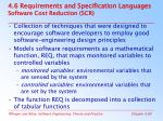 4 6 requirements and specification languages software cost reduction scr
