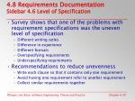 4 8 requirements documentation sidebar 4 6 level of specification