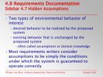 4 8 requirements documentation sidebar 4 7 hidden assumptions