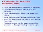 4 9 validation and verification requirements review