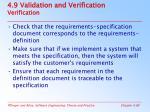 4 9 validation and verification verification