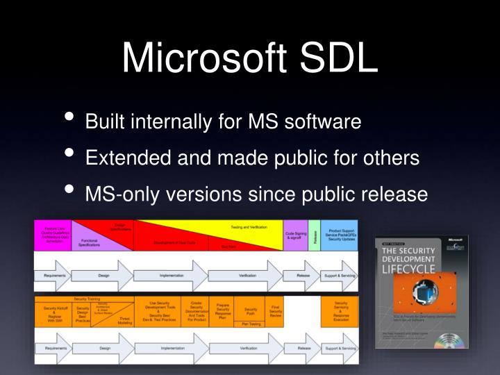 Microsoft SDL