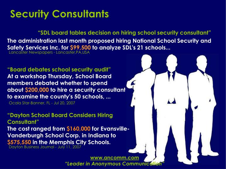 Security consultants