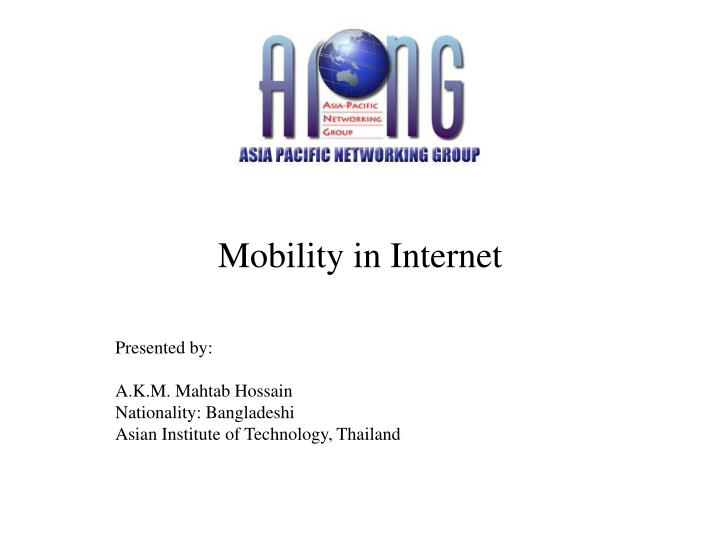 mobility in internet n.