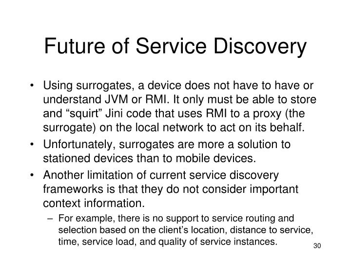 Future of Service Discovery
